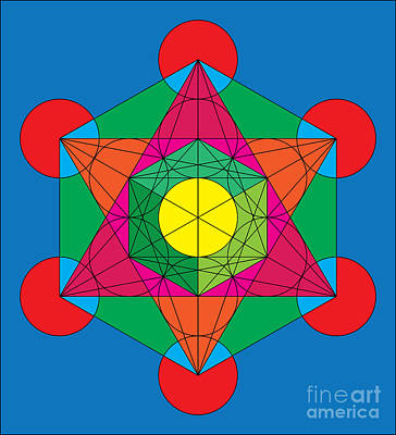 Metatron's Cube In Colors Art Print