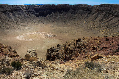 Photograph - Meteor Crater Arizona by Kathleen Scanlan