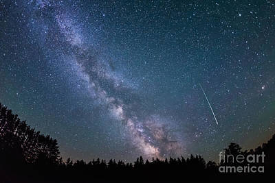Meteor Milky Way  Art Print by Michael Ver Sprill