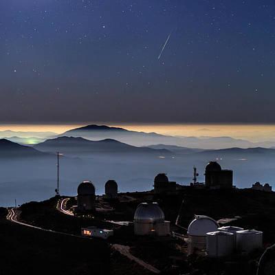 Telescope Dome Photograph - Meteor Over La Silla Observatory by Babak Tafreshi