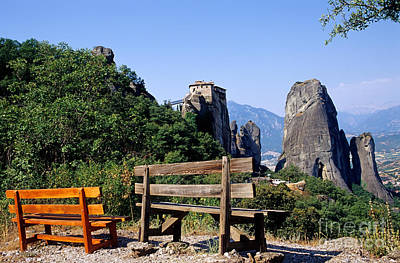 Abbey Photograph - Meteora In Thessaly by George Atsametakis