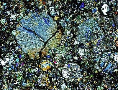 Thin Section Photograph - Meteorite Dho 020 by Alfred Pasieka