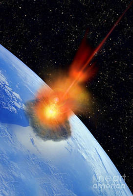 Meteorite Art Photograph - Meteorite by Mike Agliolo