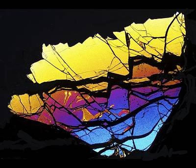 Thin Section Photograph - Meteorite Pallasovka by Alfred Pasieka
