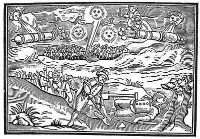 Meteors, 1628 Print by Granger