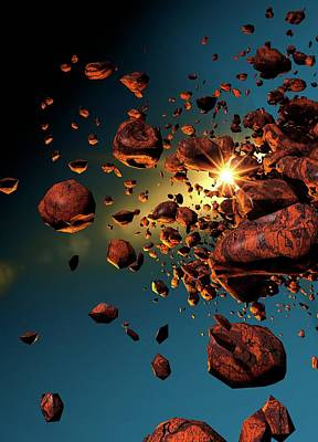 Devastation Photograph - Meteors In Space by Victor Habbick Visions