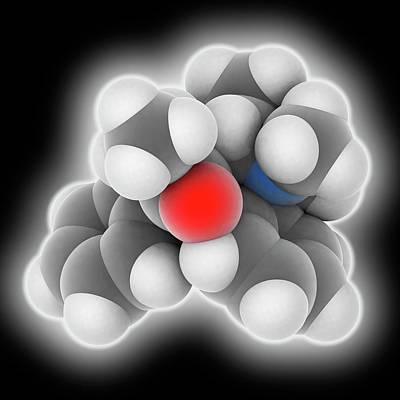 Heroin Photograph - Methadone Drug Molecule by Laguna Design