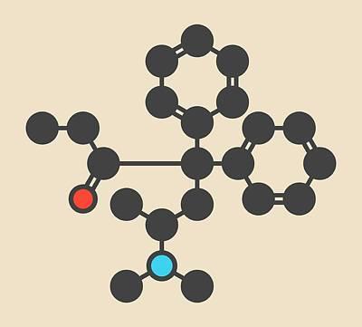 Heroin Photograph - Methadone Opioid Dependency Drug Molecule by Molekuul