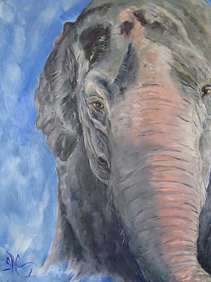 The Elder, Methai An Elephant Art Print