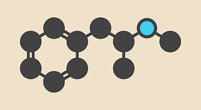 Methamphetamine Crystal Meth Molecule Art Print
