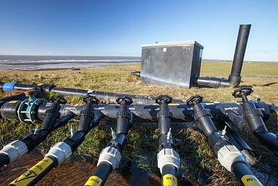 Renewable Energy Photograph - Methane From Landfill On Walney Island by Ashley Cooper