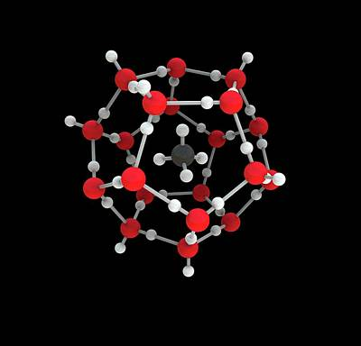 Atom Photograph - Methane Hydrate Molecule by Mikkel Juul Jensen