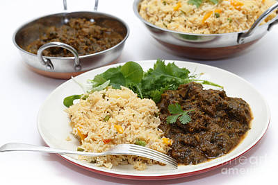 Photograph - Methi Gosht And Tomato Biriyani Meal by Paul Cowan