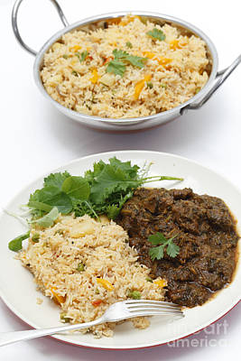 Photograph - Methi Lamb Meal With Tomato Rice by Paul Cowan