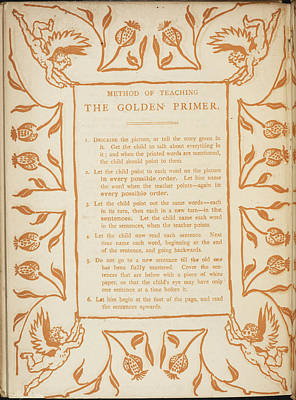 Walter Crane Photograph - Method Of Teaching The Golden Primer by British Library
