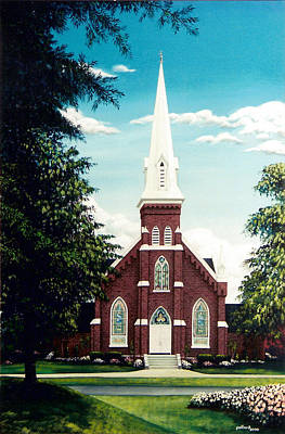 Painting - Methodist Church by Glenn Pollard