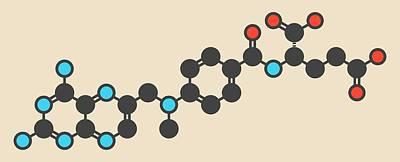 Methotrexate Cancer Drug Molecule Art Print
