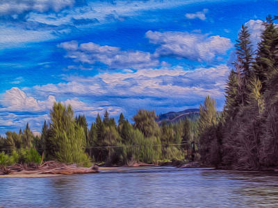 Photograph - Methow River Crossing by Omaste Witkowski