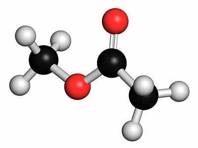 Atomic Image Photograph - Methyl Acetate Solvent Molecule by Molekuul