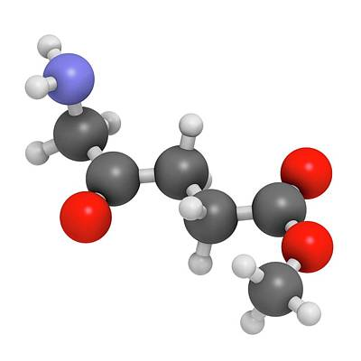Digitally Generated Image Photograph - Methyl Aminolevulinate Drug Molecule by Molekuul
