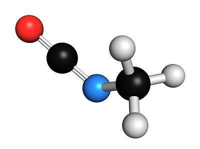 Mic Photograph - Methyl Isocyanate Mic Toxic Molecule by Molekuul