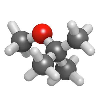Methyl Tert-butyl Ether Molecule Art Print by Molekuul