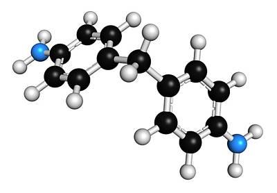 Methylenedianiline Molecule Art Print by Molekuul