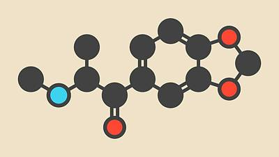 Methylone Stimulant Molecule Art Print by Molekuul
