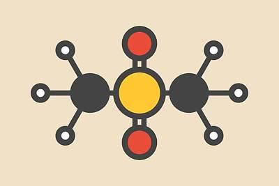 Atom Photograph - Methylsulfonylmethane Msm Molecule by Molekuul