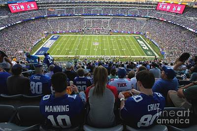Photograph - Metlife Stadium Manning And Cruz by Allen Beatty