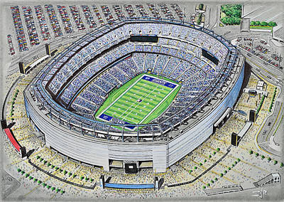 Painting - Metlife Stadium - New York Giants by D J Rogers