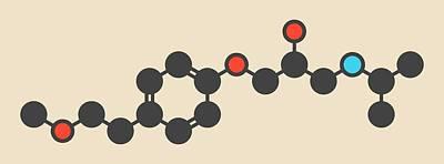 Metoprolol High Pressure Drug Molecule Art Print by Molekuul