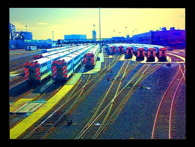 Digital Art - Metra Yard by Zac AlleyWalker Lowing
