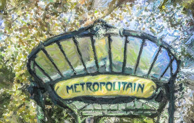 Digital Art - Metro Abbesses by Liz Leyden