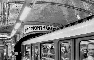 Art Print featuring the photograph Metro At Montmartre. Paris by Jennie Breeze
