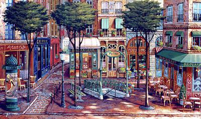 Painting - Metro by John P. O'brien