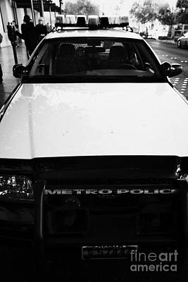Patrol Cars Photograph - metro metropolitan police squad patrol police car Las Vegas by Joe Fox
