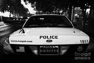 Patrol Car Photograph - metro metropolitan police squad patrol police car Las Vegas Nevada  by Joe Fox