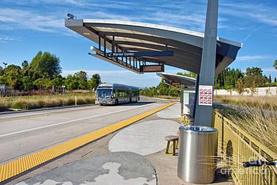 Photograph - Metro Orange Line Rapid Transit Bus Line San Fernando Valley by David Zanzinger
