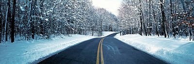 Winter Roads Photograph - Metro Park Road Oh Usa by Panoramic Images