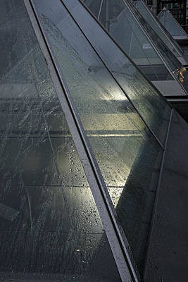 Photograph - Metro Pyramids In The Rain by Inge Riis McDonald