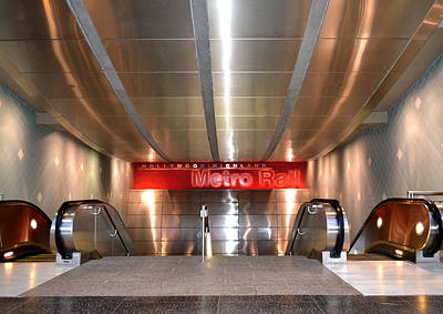 Photograph - Metro Red Line by Nadalyn Larsen