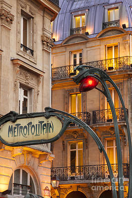 Photograph - Metro Stop Saint Michel by Brian Jannsen