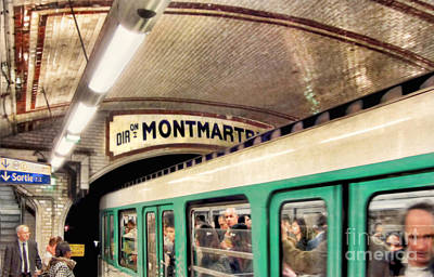 Art Print featuring the photograph Metro To Montmartre. Paris   by Jennie Breeze