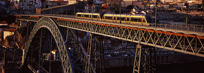 Metro Train On A Bridge, Dom Luis I Art Print by Panoramic Images