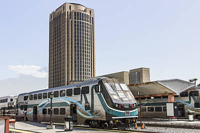 Digital Art - Metrolink by Photographic Art by Russel Ray Photos