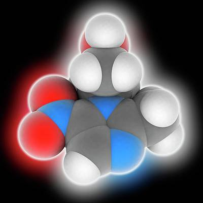 Metronidazole Drug Molecule Art Print by Laguna Design