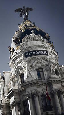 Metropolis Madrid Art Print by Joan Carroll