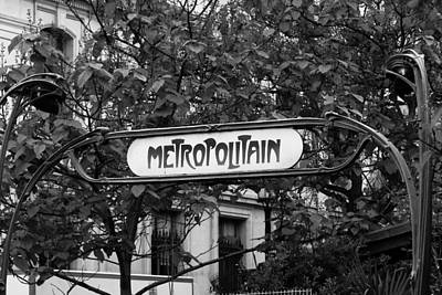 Metropolitain - Bw Art Print by Carrie Warlaumont
