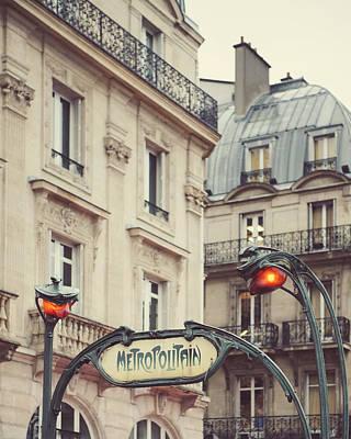 Metro Art Photograph - Metropolitain by Irene Suchocki
